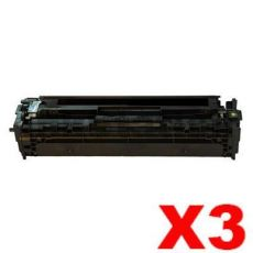 3 x Compatible Canon CART-418BK Black Toner Cartridge - 3,400 pages