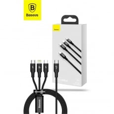 3-in-1 PD 20W Fast Charging Cable 1.5m Black USB-C to Lightning + USB-C + Micro USB