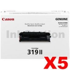 5 x Canon CART-319II Black High Yield  Genuine Laser Toner Cartridge 6,400 pages