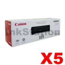 5 x Canon CART-325 Genuine Toner Cartridge - 1,600 pages