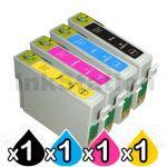 4 Pack Epson 200XL (C13T201192-C13T201492) Compatible High Yield Inkjet Cartridges [1BK,1C,1M,1Y]