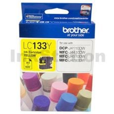 Genuine Brother LC-133Y Yellow Ink Cartridge - 600 Pages
