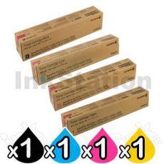 4 Pack Fuji Xerox DocuCentre-IV C2270, C3370, C3373, C4470, C5570 Genuine Toner Cartridges - 26,000 pages (CT201370-CT201373)