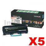 5 x Lexmark (X264H11G) Genuine X264/X363/X364 Toner - 9,000 pages