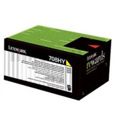 1 x Lexmark (70C8HY0) Genuine CS310 / CS410 / CS510 Yellow High Yield Toner Cartridge - 3,000 pages