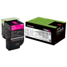 1 x Lexmark (70C80M0) Genuine CS310 / CS410 / CS510 Magenta Standard Yield Toner Cartridge - 1,000 pages