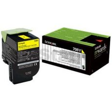 1 x Lexmark (70C80Y0) Genuine CS310 / CS410 / CS510 Yellow Standard Yield Toner Cartridge - 1,000 pages