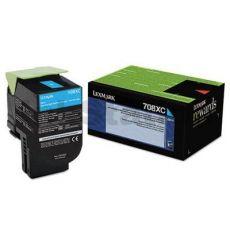 1 x Lexmark (70C8XC0) Genuine CS510 Cyan Extra High Yield Toner Cartridge - 4,000 pages