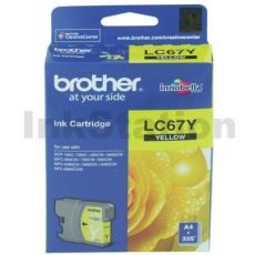 Genuine Brother LC-67Y Yellow Ink Cartridge - 325 pages