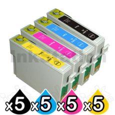 20 Pack Epson 200XL (C13T201192-C13T201492) Compatible High Yield Inkjet Cartridges [5BK,5C,5M,5Y]