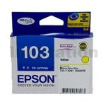 Epson 103 T1034 Yellow Genuine High Yield Ink Cartridge - 815 pages [C13T103492]