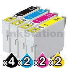 10 Pack Compatible Epson T0561-T0564 series [4BK,2C,2M,2Y]