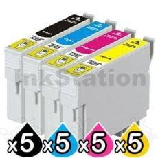 20 Pack Compatible Epson T0561-T0564 series [5BK,5C,5M,5Y]