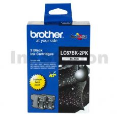 Genuine Brother LC-67BK2PK Black Twin Pack [2BK] - 450 Pages each
