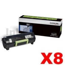 8 x Lexmark 503H (50F3H00) Genuine MS310 / MS312 / MS410 / MS415/ MS510 / MS610 High Yield Toner Cartridge - 5,000 pages