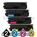 2 sets of 4-Pack Compatible Brother TN-346 High Yield Toner Combo [2BK,2C,2M,2Y]