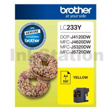 Genuine Brother LC-233Y Yellow Ink Cartridge - 550 pages