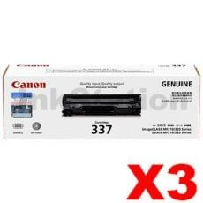 3 x Genuine Canon CART-337 Black Toner Cartridge - 2,100 pages