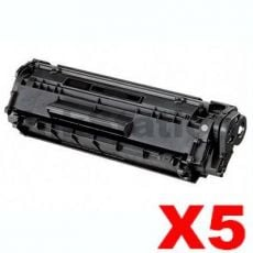 5 x Canon FX-9 Black Compatible Toner Cartridge 2,000 pages
