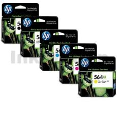 4 sets of 5 Pack HP 564XL Genuine Inkjet Cartridges CN684WA+CB322WA-CB325WA [4BK,4PBK,4C,4M,4Y]