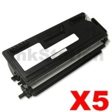 5 x Brother TN-7600 Black Compatible Toner Cartridge 6500 pages