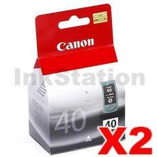 2 x Canon PG-40 Genuine Ink Cartridge
