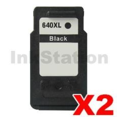 2 x Canon PG-640XL Compatible Black High Yield Ink Cartridge - 400 pages