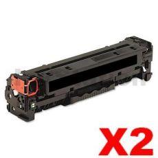 2 x HP CF400X (201X) Compatible Black Toner Cartridge - 2,800 Pages