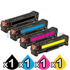 4 Pack HP 410X (CF410X-CF413X) Compatible Toner Cartridges [1BK,1C,1M,1Y]