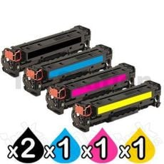 5 Pack HP 410X (CF410X-CF413X) Compatible Toner Cartridges [2BK,1C,1M,1Y]