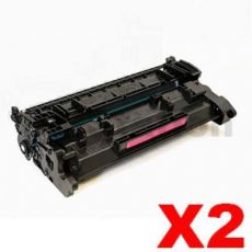 2 x HP CF226A (26A) Compatible Black Toner Cartridge - 3,100 Pages