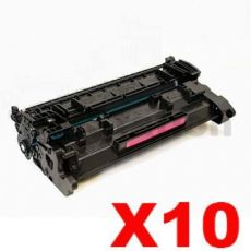 10 x HP CF226A (26A) Compatible Black Toner Cartridge - 3,100 Pages