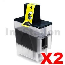 2 x Brother Compatible LC-47BK Black Ink Cartridge - 500 pages