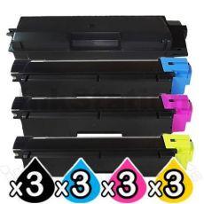3 sets of 4 Pack Non-Genuine TK-5154 Toner Combo For Kyocera M-6535CDN, P-6035CDN [3BK+3C+3M+3Y]