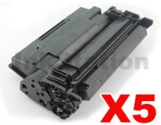 5 x HP CF226X (26X) Compatible Black Toner Cartridge - 9,000 Pages