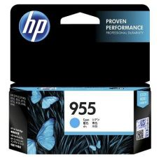 HP 955 Genuine Cyan Standard Inkjet Cartridge L0S51AA - 700 Pages