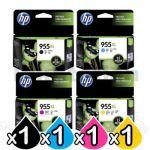 4 Pack HP 955XL Genuine High Yield Inkjet Combo L0S63AA - L0S72AA [1BK,1C,1M,1Y]