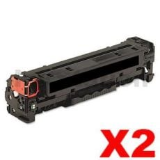 2 x HP 410X (CF410X) Compatible Black Toner Cartridge - 6,500 pages