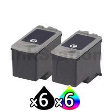 12 pack Canon PG-40 CL-41 Compatible Combo Pack [6BK,6C]