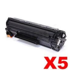 5 x Compatible Canon CART-337 Black Toner Cartridge - 2,100 pages