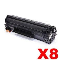 8 x Compatible Canon CART-337 Black Toner Cartridge - 2,100 pages