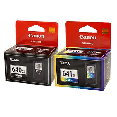 12-Pack Canon PG-640XL, CL-641XL Genuine High Yield Ink Cartridge [6Black + 6Colour]