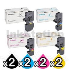 2 sets of 4 Pack Genuine Kyocera TK-5234 Toner Combo Ecosys M5521, P5021 [2BK,2C,2M,2Y]